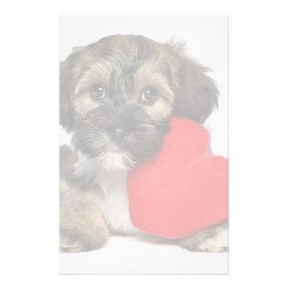 Perro de perrito de Havanese de la tarjeta del día Papeleria