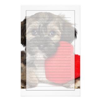 Perro de perrito de Havanese de la tarjeta del día Papelería