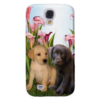 Perro de perrito de Labrador del golden retriever Funda Para Galaxy S4