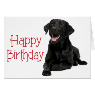 Perro de perrito de Labrador del negro del feliz Tarjeta De Felicitación