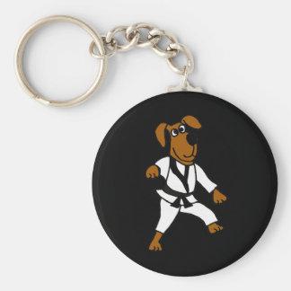 Perro de perrito de los artes marciales BL Llavero Redondo Tipo Pin