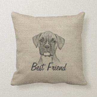 Perro de perrito de moda divertido adorable impres cojín