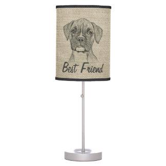 Perro de perrito de moda divertido adorable impres lámpara de mesa
