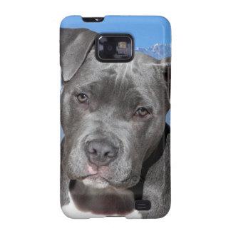 Perro de perrito de Pitbull Terrier del americano Samsung Galaxy S2 Carcasa
