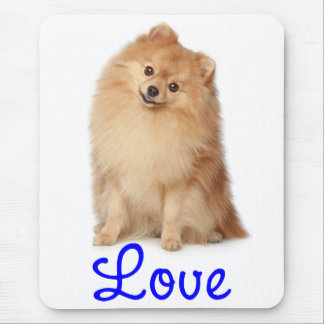 Perro de perrito de Pomeranian Pom Pom del amor Mo Alfombrillas De Raton