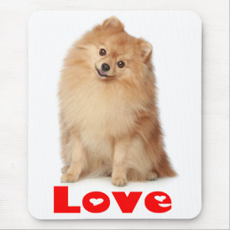 Perro de perrito de Pomeranian Pom Pom del amor Mo Tapete De Raton