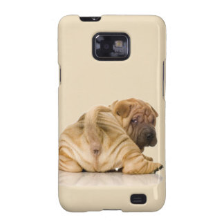 Perro de perrito de Shar-pei del chino Samsung Galaxy S2 Funda