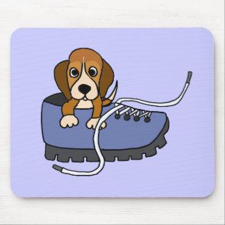 Perro de perrito del beagle del BI en un dibujo an Mousepads