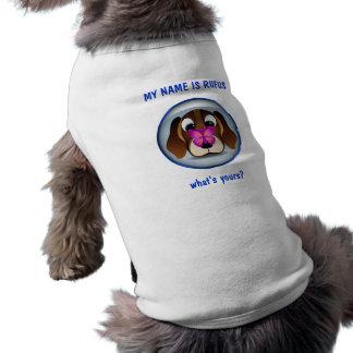 Perro de perrito del beagle y camiseta lindos del playera sin mangas para perro