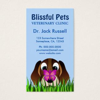 Perro de perrito del beagle y veterinario lindos tarjetas de visita
