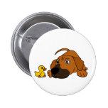 Perro de perrito del BQ Brown con el dibujo animad Pin