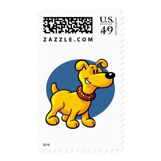Perro de perrito del dibujo animado timbre postal