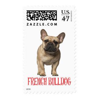Perro de perrito del dogo francés - amor rojo del sello postal