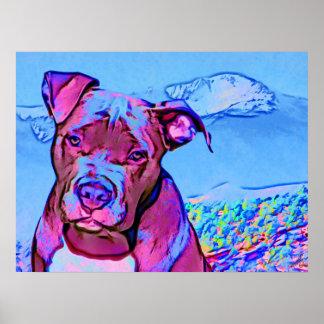 Perro de perrito del pitbull del arte pop impresiones