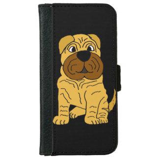 Perro de perrito divertido de Shar Pei del Funda Cartera Para iPhone 6