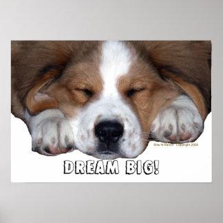 Perro de perrito el dormir de St Bernard: ¡GRANDE  Póster