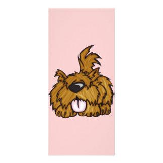 Perro de perrito feliz plantilla de lona
