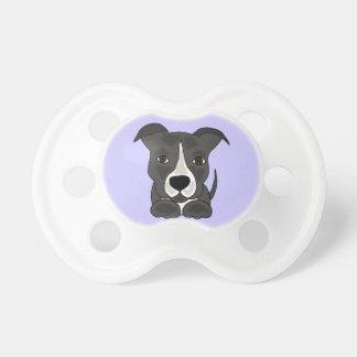 Perro de perrito gris lindo de Pitbull Chupete