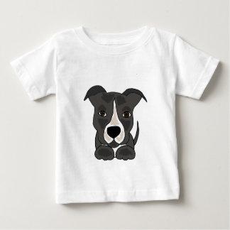 Perro de perrito gris lindo de Pitbull Playera Para Bebé