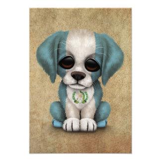 Perro de perrito guatemalteco patriótico lindo de comunicado personalizado