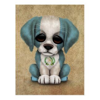 Perro de perrito guatemalteco patriótico lindo de postal
