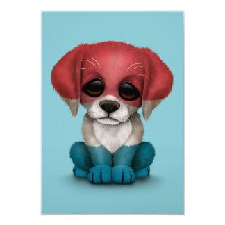 """Perro de perrito holandés patriótico lindo de la invitación 3.5"""" x 5"""""""