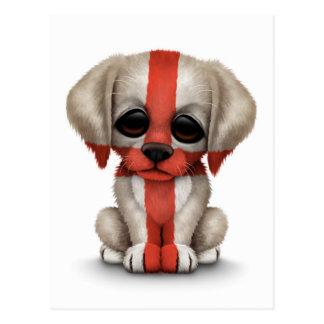 Perro de perrito inglés patriótico lindo de la ban postal