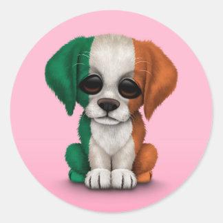 Perro de perrito irlandés patriótico lindo de la b