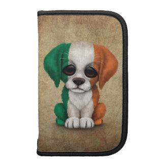 Perro de perrito irlandés patriótico lindo de la planificadores