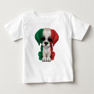 Perro de perrito italiano patriótico lindo de la remeras