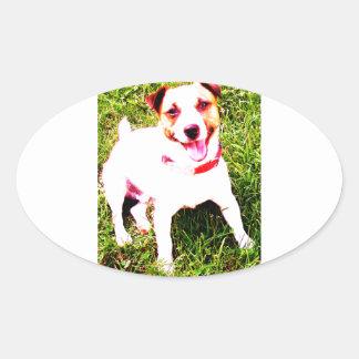 perro de perrito, Jack Daniels Pegatina Ovalada