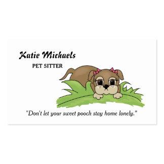 Perro de perrito lindo con servicios que se tarjetas de visita