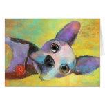 Perro de perrito lindo de Boston Terrier Svetlana  Felicitaciones