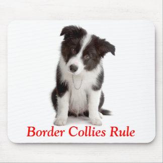 Perro de perrito lindo de la regla de los borderes alfombrilla de ratones
