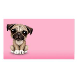 Perro de perrito lindo del barro amasado del bebé  plantillas de tarjetas de visita