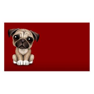Perro de perrito lindo del barro amasado del bebé  tarjeta de negocio