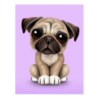 Perro de perrito lindo del barro amasado del bebé  tarjeta postal