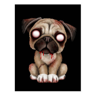 Perro de perrito lindo del barro amasado del zombi tarjetas postales
