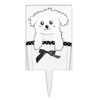 Perro de perrito lindo del bolsillo decoración de tarta