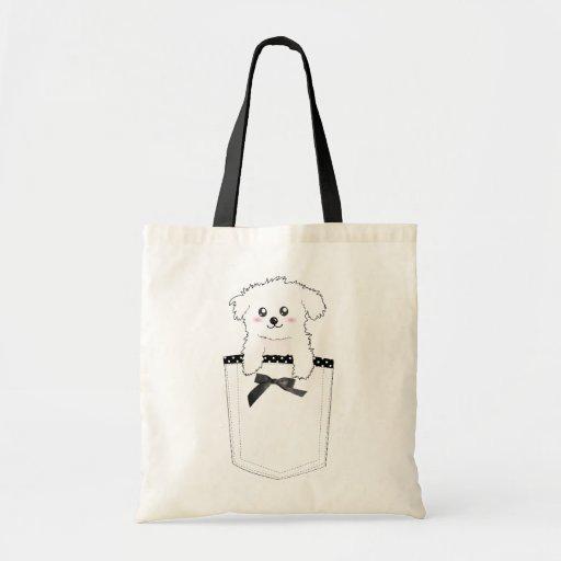 Perro de perrito lindo del bolsillo bolsas