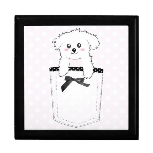 Perro de perrito lindo del bolsillo caja de regalo