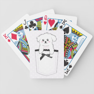 Perro de perrito lindo del bolsillo baraja de cartas