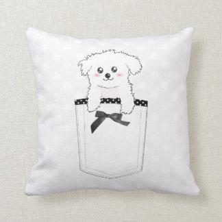 Perro de perrito lindo del bolsillo cojines