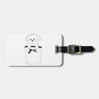 Perro de perrito lindo del bolsillo etiquetas para equipaje