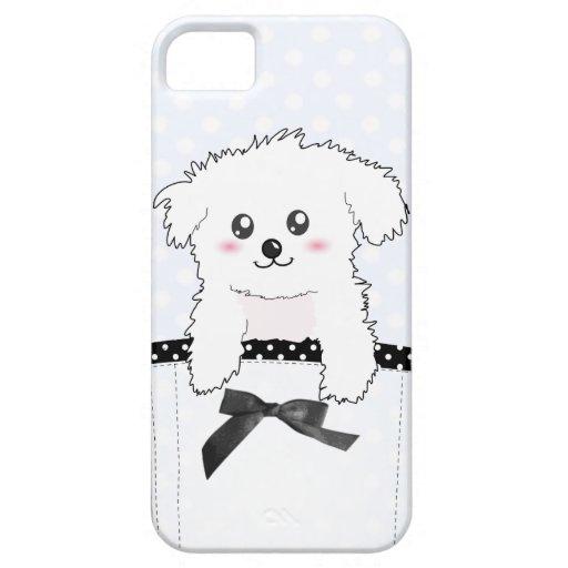 Perro de perrito lindo del bolsillo iPhone 5 Case-Mate coberturas