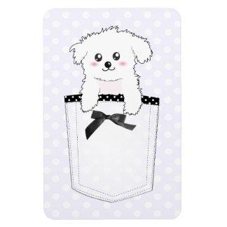 Perro de perrito lindo del bolsillo imanes flexibles