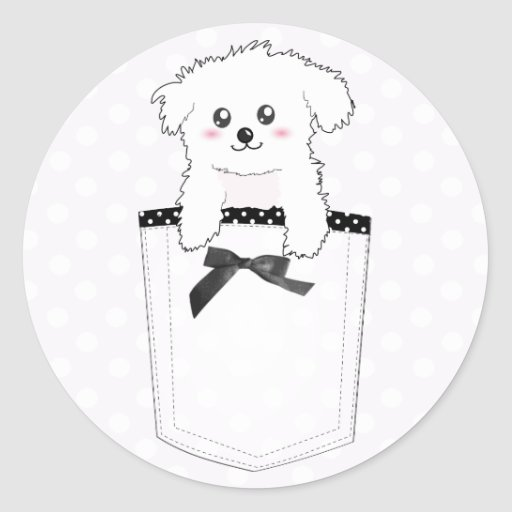 Perro de perrito lindo del bolsillo pegatina