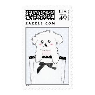 Perro de perrito lindo del bolsillo sellos