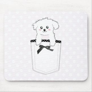 Perro de perrito lindo del bolsillo mouse pad
