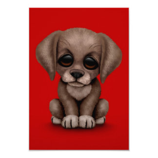 """Perro de perrito lindo del labrador retriever del invitación 3.5"""" x 5"""""""